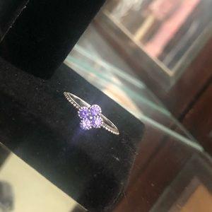 Pandora Jewelry - Pandora Flower Ring - purple